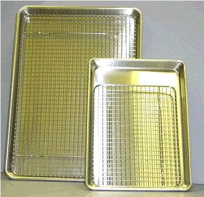 Half Sheet Pan and Cooling Rack Gift Set 13x18 Kitchen Kneads